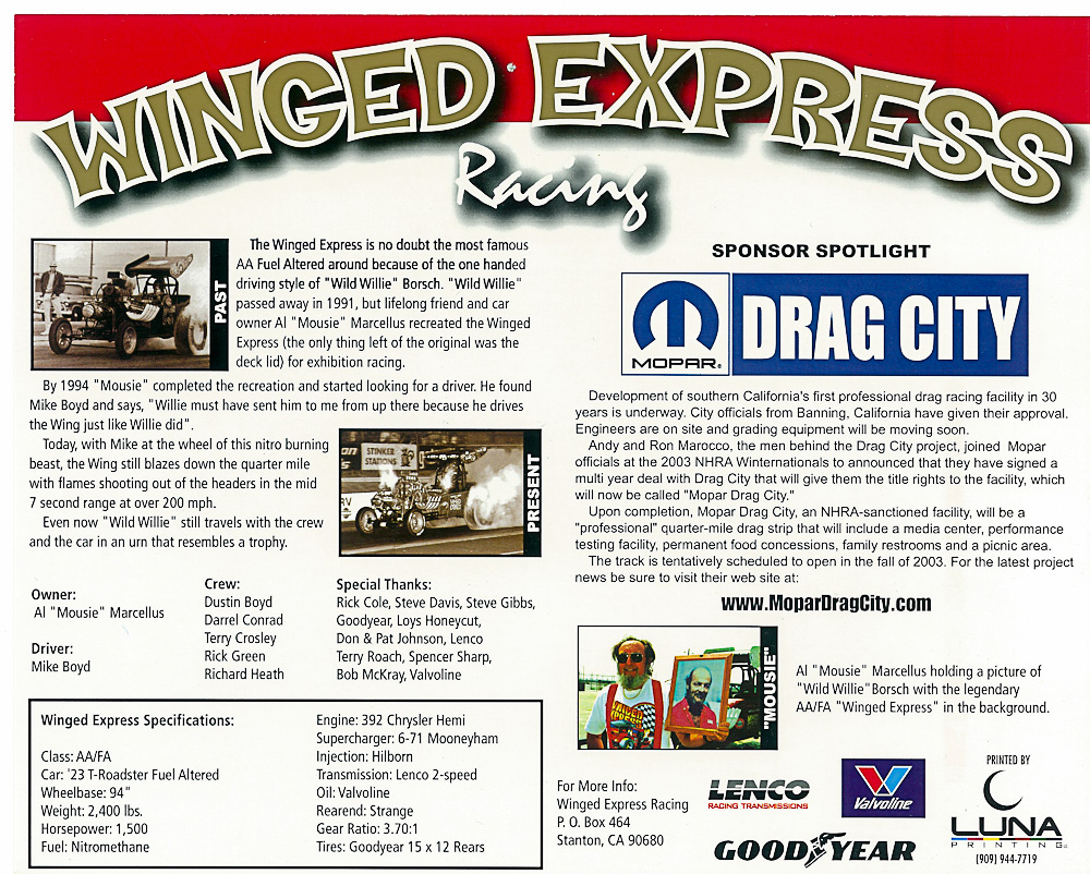 Winged Express test